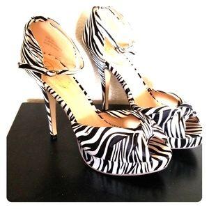 Zebra Striped Heels